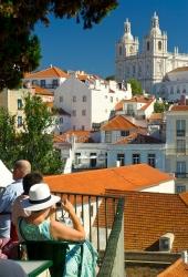 Lissabon - Miradouro das  Porta do Sol