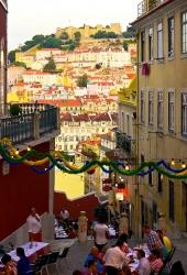 Lissabon - Restaurant und Castelo