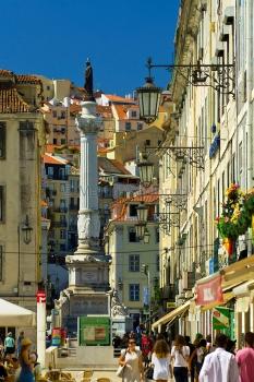Lissabon - Praca da Figuera und Rossio