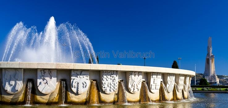 Lissabon - Belem - Brunnen im Jardim da Praca do Imperio
