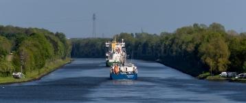auf dem Kanal östlich Weiche Groß Nordsee