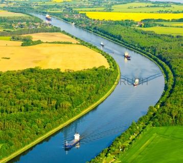 Kanal bei Sehestedt aus der Luft