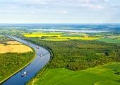 Kanal mit Wittensee aus der Luft