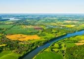 Kanal mit Landwehr und Westensee aus der Luft