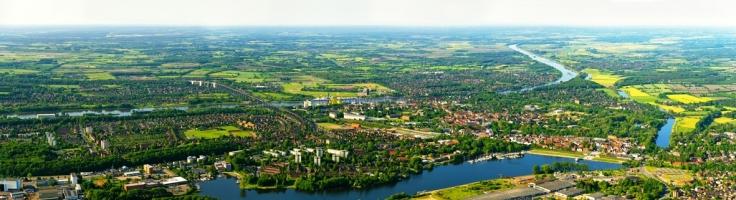 Rendsburg aus der Luft