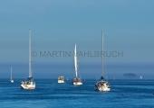 Boote auf der Schlei vor der Lotseninsel
