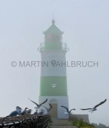 Leuchtturm Schleimünde im Nebel 2