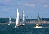 Schiffe auf der Schlei vor Maasholm