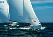 Kieler Woche 2012  Starboot  -  vorn: Lars Kiewning, VSaW, & Stefan Paust, NRV, hinten: Lars Keilwitz, SFS & Mathias Wolf, KYC