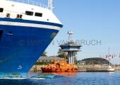 Travemünde - Fähre, Lotsenboot  und Leitstelle