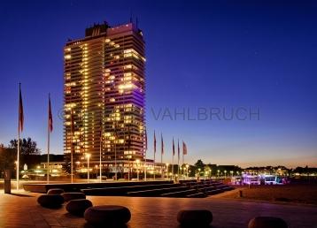 Travemünde - Hotel Maritim bei Nacht