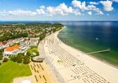 Travemünde - Strand und Hotels von oben 1