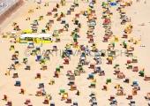 Travemünde - Strand von oben
