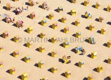 Travemünde - Strandkörbe von oben 1