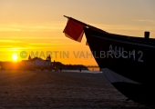 Usedom - Ahlbeck - Fischerboot im Sonnenuntergang 1