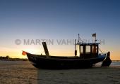 Usedom - Ahlbeck - Fischerboot im Sonnenuntergang 2