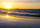 Usedom - Zempin - Strand im Sonnenuntergang 7