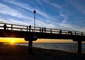 Usedom - Seebrücke Zinnowitz im Sonnenuntergang