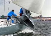 Kieler Woche 2014 - Welcome Race - Platoon beim Segelwechsel