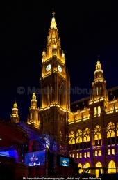 Wien - Rathaus - Illumination zum Lifeball 2012