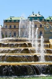 Wien - oberes Belvedere - Kaskade 2