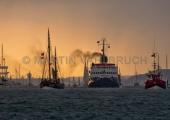 Windjammerparaden Kiel - Eisbrecher Stettin  im Gewitterlicht