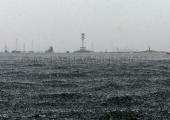 Windjammerparaden Kiel - Leuchtturm Friedrichsort im Gewitter