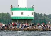 Windjammerparaden Kiel - Zuschauer am Leuchtturm Friedrichsort 3